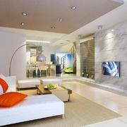 100平方米现代简约风格客厅装修效果图