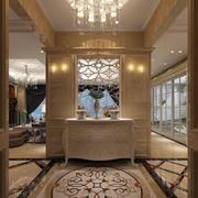 别墅型欧式风格精致时尚进门玄关装修效果图