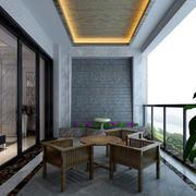 现代别墅简约风格时尚创意阳台装修效果图赏析
