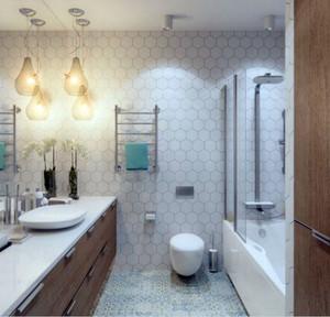 都市简约风格时尚创意室内卫生间装修效果图