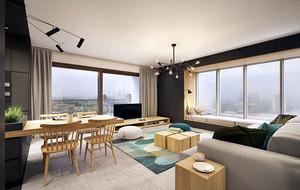 2016年都市小清新风格简约时尚大户型公寓装修效果图