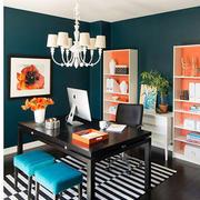 时尚混搭大户型室内创意书房装修效果图