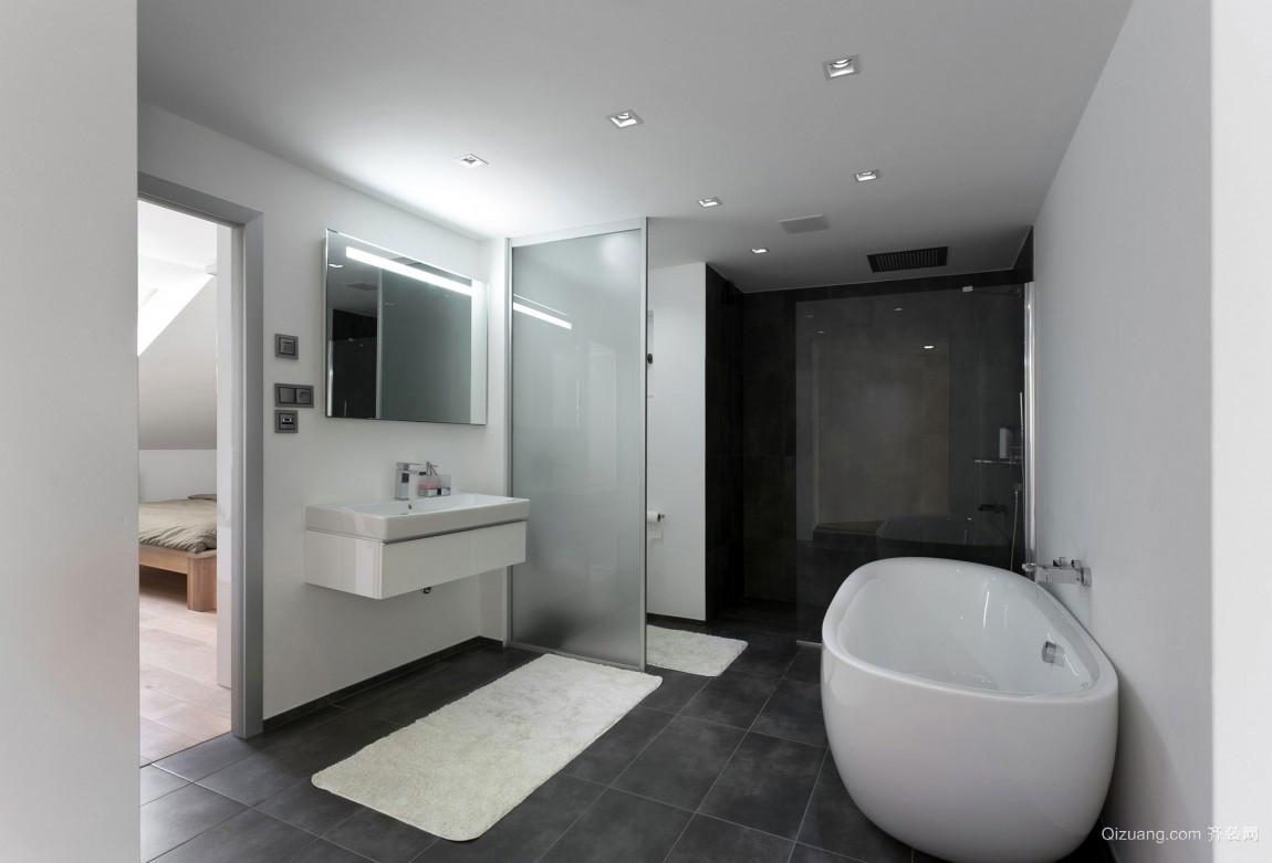 简约风格清新别墅卫生间装修效果图