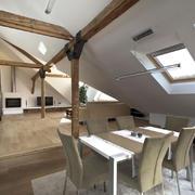 别墅型现代风格精致阁楼客厅装修效果图