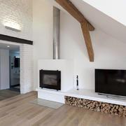 120平米时尚简约风格斜顶木屋阁楼客厅装修图