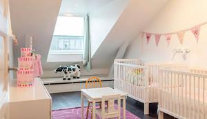 别墅型唯美清新风格阁楼儿童卧室装修效果
