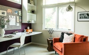 现代简约风格两室一厅室内书房装修效果图