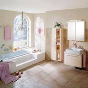浪漫粉色田园风格别墅卫生间装修效果图
