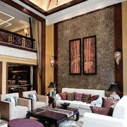 三居室中式新古典风格客厅装修效果图