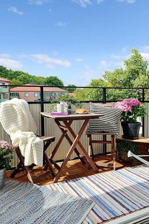 北欧风格时尚简约创意阳台装修效果图