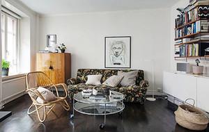 70平米北欧风格自然简约时尚公寓装修效果图