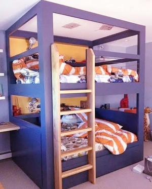 现代风格缤纷色彩创意儿童房装修设计效果图