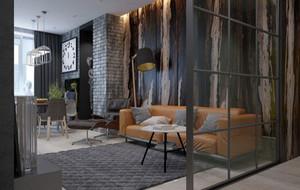 70平米后现代风格单身公寓装修效果图赏析