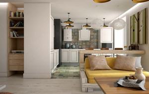 50平米小户型都市简约温馨公寓装修效果图
