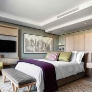 别墅型时尚家居精致卧室装修设计效果图