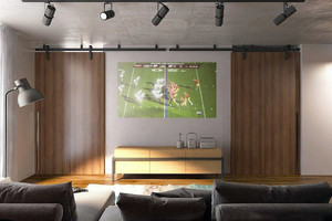 现代简约风格开放式风格两居室装修效果图