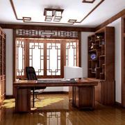 小户型中式风格精致书房装修效果图