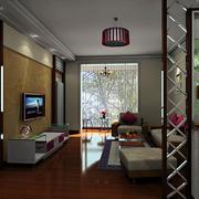 100平米现代简约风格客厅隔断装修效果图