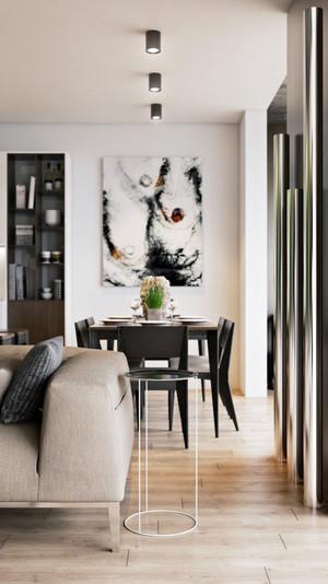 90平米现代简约风格花园家园公寓装修效果图实例