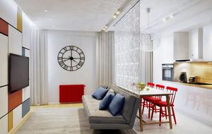60平米小户型精致时尚混搭单身公寓装修效果图