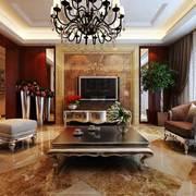 大户型古典美式风格客厅装修效果图