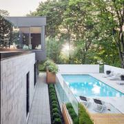 现代时尚典雅别墅花园装修效果图
