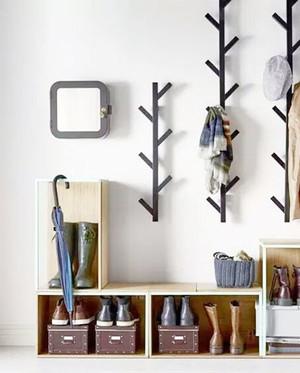 小户型北欧风格进门玄关鞋柜装修效果图赏析