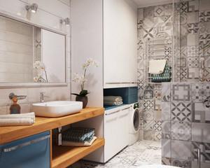 70平米后现代风格创意时尚单身公寓装修效果图