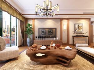 120平典雅精致新中式客厅装修效果图