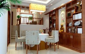 大户型中式古典风格餐厅装修效果图