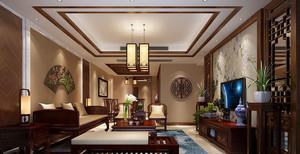 中式优雅三居客厅装修效果图