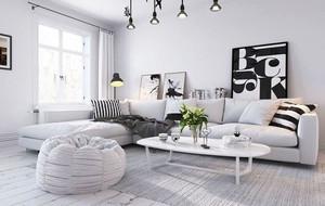 70平米北欧风格时尚自然简约公寓装修效果图赏析