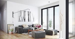 都市北欧风格小户型客厅装修效果图