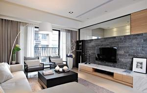 120平米都市loft风格电视背景墙效果图