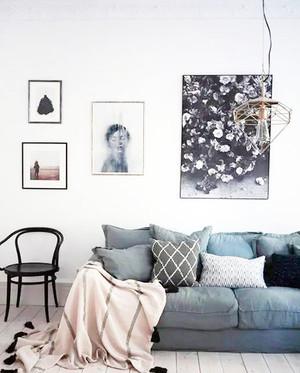 简约风格小户型客厅创意吊灯设计图