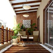 东南亚风格别墅阳台装修设计