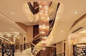 新古典美式别墅楼梯装修效果图