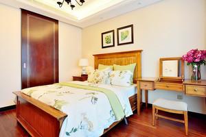 80平米美式田园风格卧室装修效果图