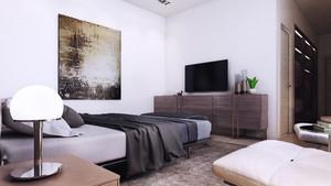 120平米现代单身公寓装修效果图