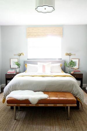 现代温馨小户型卧室装修效果图