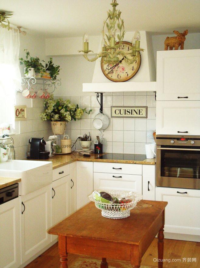欧式田园风格两居室厨房装修效果图