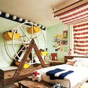 现代时尚创意充满童趣儿童房装修效果图