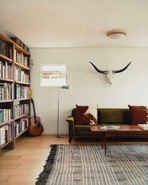 美式大户型客厅书房设计效果图
