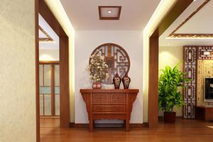新中式风格别墅进门玄关设计效果图