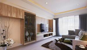日式风格两居室客厅装修效果图