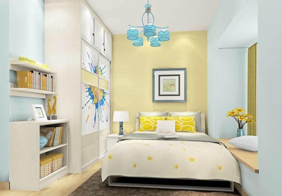 小户型清新自然卧室装修效果图