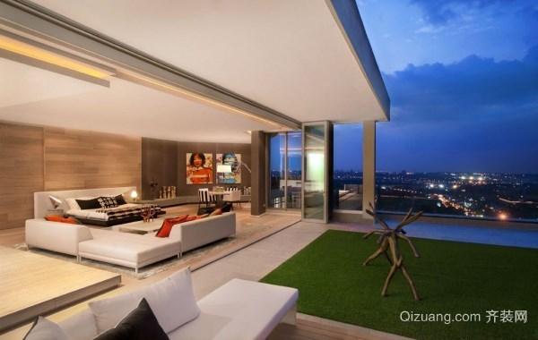 现代别墅型精致花园设计效果图