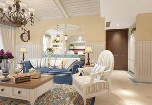 110平米地中海风格客厅装修效果图