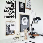 现代创意书房背景墙装修效果图