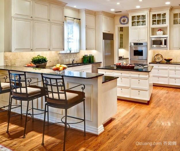 二居室美式田园风格厨房装修效果图